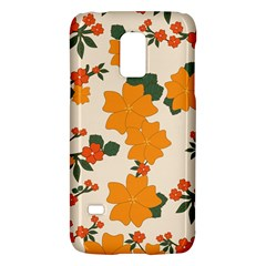 Vintage Floral Wallpaper Background In Shades Of Orange Galaxy S5 Mini