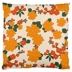 Vintage Floral Wallpaper Background In Shades Of Orange Standard Flano Cushion Case (One Side)