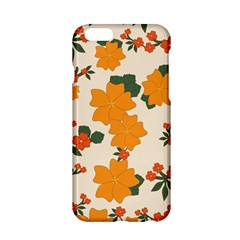 Vintage Floral Wallpaper Background In Shades Of Orange Apple iPhone 6/6S Hardshell Case