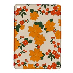 Vintage Floral Wallpaper Background In Shades Of Orange iPad Air 2 Hardshell Cases