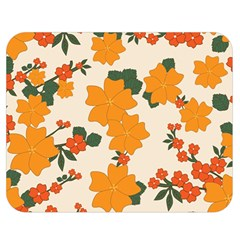 Vintage Floral Wallpaper Background In Shades Of Orange Double Sided Flano Blanket (Medium)