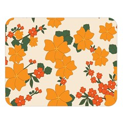 Vintage Floral Wallpaper Background In Shades Of Orange Double Sided Flano Blanket (Large)