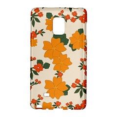 Vintage Floral Wallpaper Background In Shades Of Orange Galaxy Note Edge