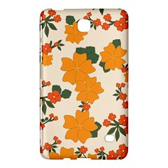 Vintage Floral Wallpaper Background In Shades Of Orange Samsung Galaxy Tab 4 (8 ) Hardshell Case