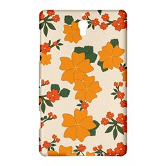 Vintage Floral Wallpaper Background In Shades Of Orange Samsung Galaxy Tab S (8.4 ) Hardshell Case