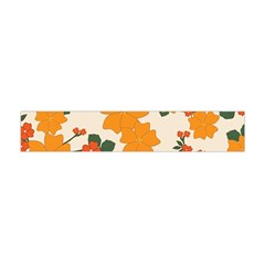 Vintage Floral Wallpaper Background In Shades Of Orange Flano Scarf (Mini)
