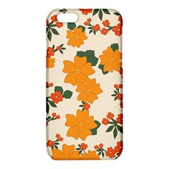 Vintage Floral Wallpaper Background In Shades Of Orange iPhone 6/6S TPU Case