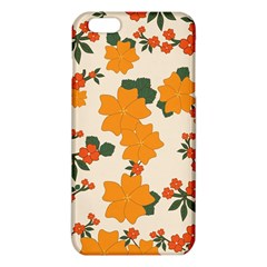 Vintage Floral Wallpaper Background In Shades Of Orange Iphone 6 Plus/6s Plus Tpu Case