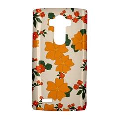 Vintage Floral Wallpaper Background In Shades Of Orange LG G4 Hardshell Case