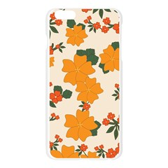 Vintage Floral Wallpaper Background In Shades Of Orange Apple Seamless iPhone 6 Plus/6S Plus Case (Transparent)
