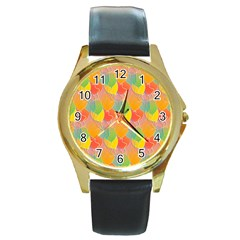 Birthday Balloons Round Gold Metal Watch