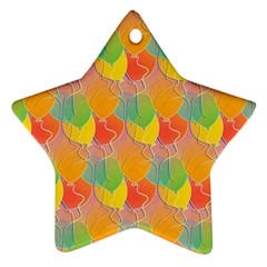 Birthday Balloons Star Ornament (Two Sides)