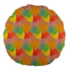 Birthday Balloons Large 18  Premium Round Cushions