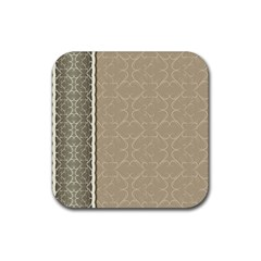 Abstract Background With Floral Orn Illustration Background With Swirls Rubber Coaster (Square)