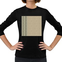 Abstract Background With Floral Orn Illustration Background With Swirls Women s Long Sleeve Dark T Shirts