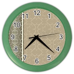 Abstract Background With Floral Orn Illustration Background With Swirls Color Wall Clocks