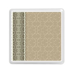Abstract Background With Floral Orn Illustration Background With Swirls Memory Card Reader (square)