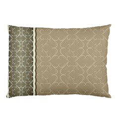 Abstract Background With Floral Orn Illustration Background With Swirls Pillow Case (Two Sides)