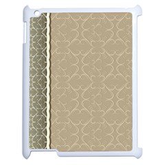 Abstract Background With Floral Orn Illustration Background With Swirls Apple iPad 2 Case (White)