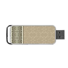 Abstract Background With Floral Orn Illustration Background With Swirls Portable USB Flash (One Side)