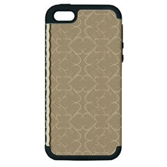 Abstract Background With Floral Orn Illustration Background With Swirls Apple Iphone 5 Hardshell Case (pc+silicone)