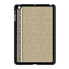 Abstract Background With Floral Orn Illustration Background With Swirls Apple iPad Mini Case (Black)