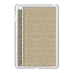 Abstract Background With Floral Orn Illustration Background With Swirls Apple iPad Mini Case (White)