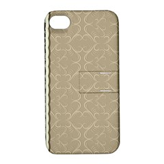 Abstract Background With Floral Orn Illustration Background With Swirls Apple Iphone 4/4s Hardshell Case With Stand