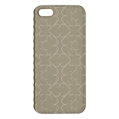 Abstract Background With Floral Orn Illustration Background With Swirls Apple Iphone 5 Premium Hardshell Case