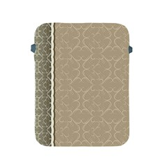 Abstract Background With Floral Orn Illustration Background With Swirls Apple iPad 2/3/4 Protective Soft Cases