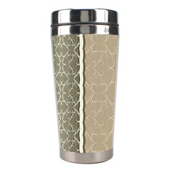 Abstract Background With Floral Orn Illustration Background With Swirls Stainless Steel Travel Tumblers