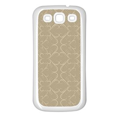 Abstract Background With Floral Orn Illustration Background With Swirls Samsung Galaxy S3 Back Case (white)