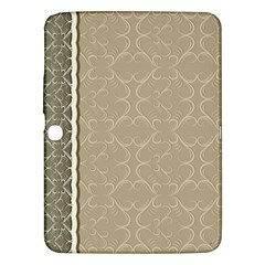 Abstract Background With Floral Orn Illustration Background With Swirls Samsung Galaxy Tab 3 (10.1 ) P5200 Hardshell Case