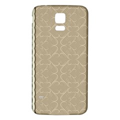 Abstract Background With Floral Orn Illustration Background With Swirls Samsung Galaxy S5 Back Case (white)