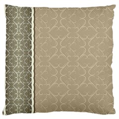 Abstract Background With Floral Orn Illustration Background With Swirls Standard Flano Cushion Case (Two Sides)