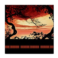 Autumn Song Autumn Spreading Its Wings All Around Tile Coasters