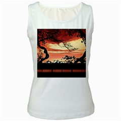 Autumn Song Autumn Spreading Its Wings All Around Women s White Tank Top
