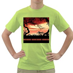 Autumn Song Autumn Spreading Its Wings All Around Green T-Shirt