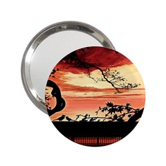 Autumn Song Autumn Spreading Its Wings All Around 2.25  Handbag Mirrors
