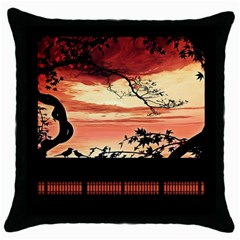 Autumn Song Autumn Spreading Its Wings All Around Throw Pillow Case (Black)