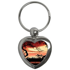Autumn Song Autumn Spreading Its Wings All Around Key Chains (heart)