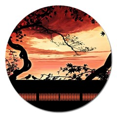 Autumn Song Autumn Spreading Its Wings All Around Magnet 5  (Round)