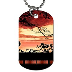 Autumn Song Autumn Spreading Its Wings All Around Dog Tag (one Side)
