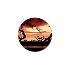 Autumn Song Autumn Spreading Its Wings All Around Golf Ball Marker (4 pack)