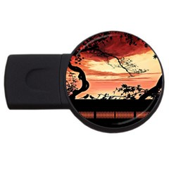 Autumn Song Autumn Spreading Its Wings All Around USB Flash Drive Round (2 GB)