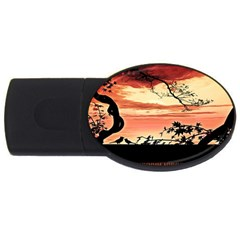 Autumn Song Autumn Spreading Its Wings All Around USB Flash Drive Oval (2 GB)