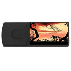 Autumn Song Autumn Spreading Its Wings All Around USB Flash Drive Rectangular (2 GB)