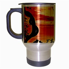 Autumn Song Autumn Spreading Its Wings All Around Travel Mug (silver Gray)