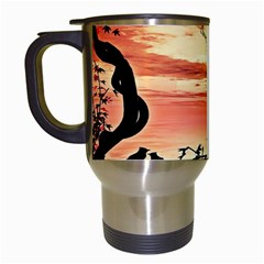 Autumn Song Autumn Spreading Its Wings All Around Travel Mugs (White)