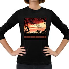 Autumn Song Autumn Spreading Its Wings All Around Women s Long Sleeve Dark T-Shirts